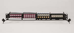 Patch panel system for flexible cabling